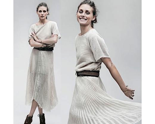 Olivia Palermo falda asimétrica