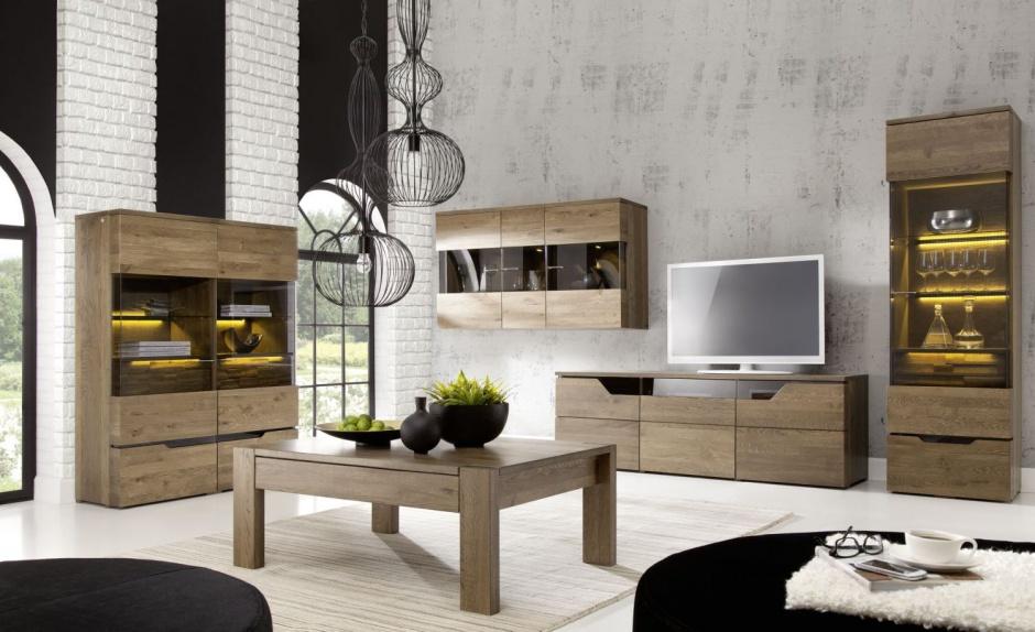 Muebles para salas con madera de roble   decoración de salas