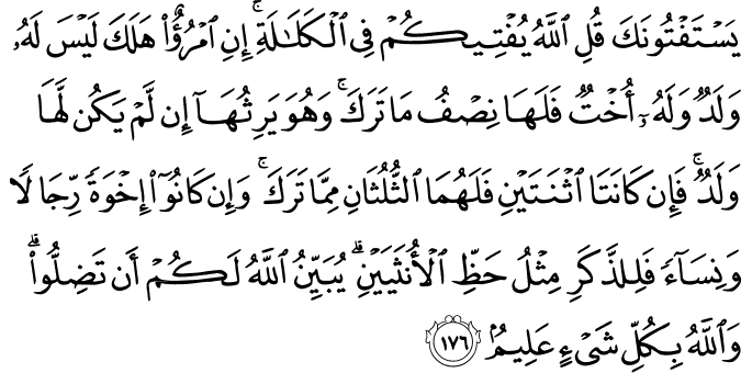 Surat An-Nisa Ayat 176