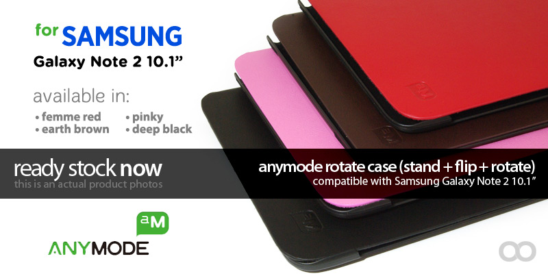 Jual Anymode Rotate Case for Samsung Galaxy Note 2 10