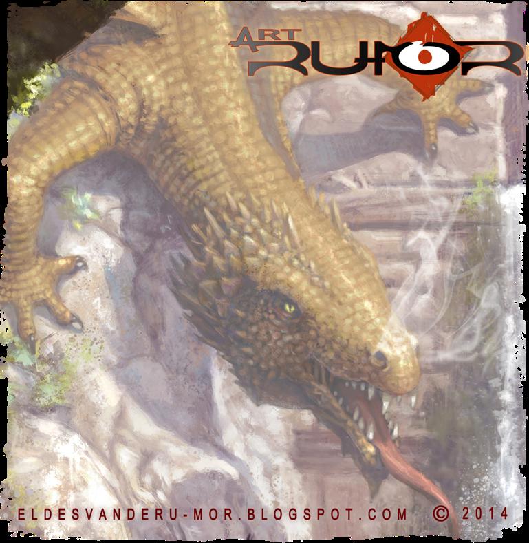 detalle del dragón de san jorge en la ilustración hecha por ªRU-MOR, fantasía, leyenda, mito, dragones