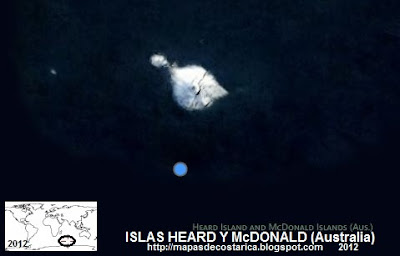 ISLAS HEARD Y McDONALD, Vista aérea de ISLAS HEARD Y McDONALD, BING