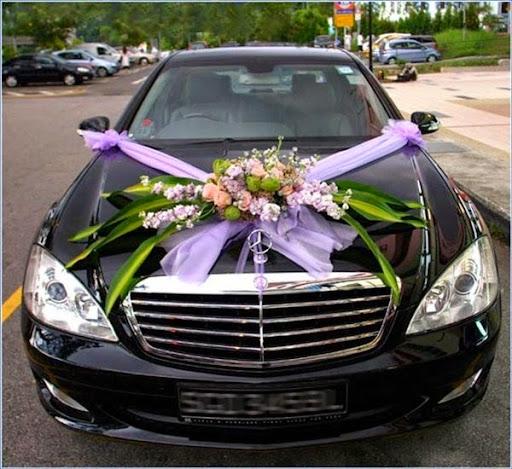 Model rangkaian bunga untuk mobil pengantin atau kendaraan pernikahan 2017/2018