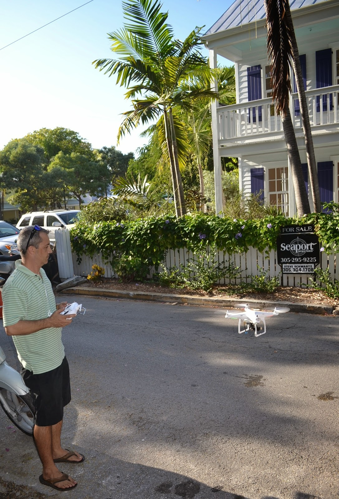 Drone Photography in Action at 405 Olivia Street in Key West