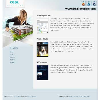 Cool Architect blogger template. template blogger for architect blog. template minimalist blog