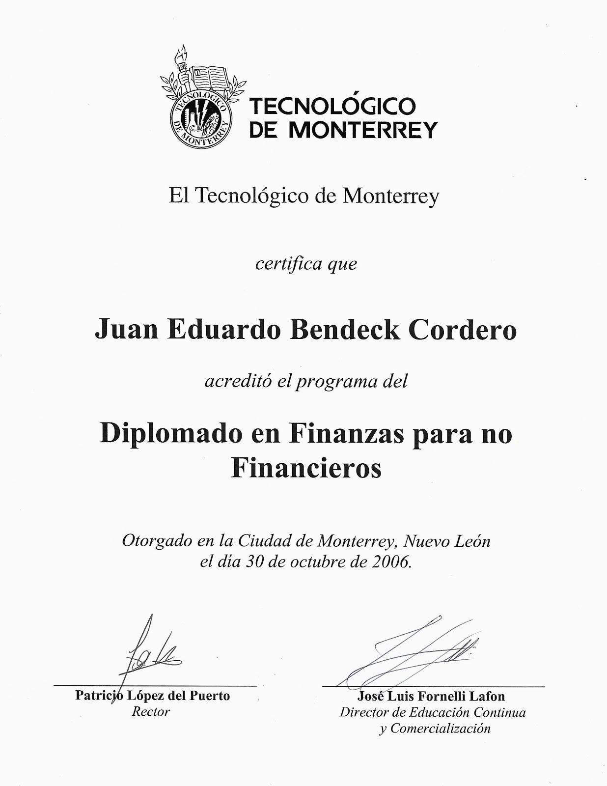 Diploma en Finanzas