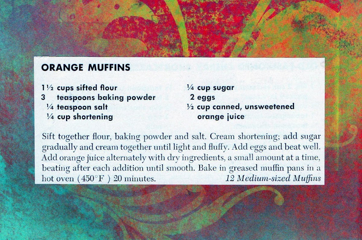 Orange Muffins (quick recipe)