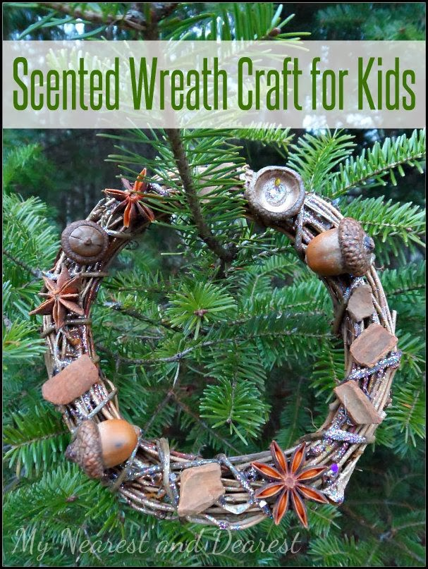Scented Wreath Craft for Kids @ My Nearest & Dearest