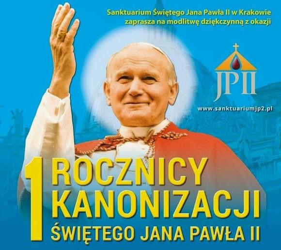 Obchody I rocznicy kanonizacji św. Jana Pawła II