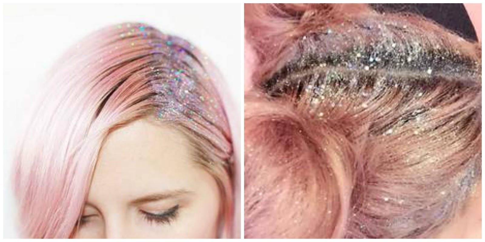 hair trend floating around on the internet lately glitter hair more. Black Bedroom Furniture Sets. Home Design Ideas