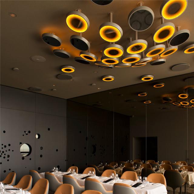 restaurant ciel de paris artemide leuchten