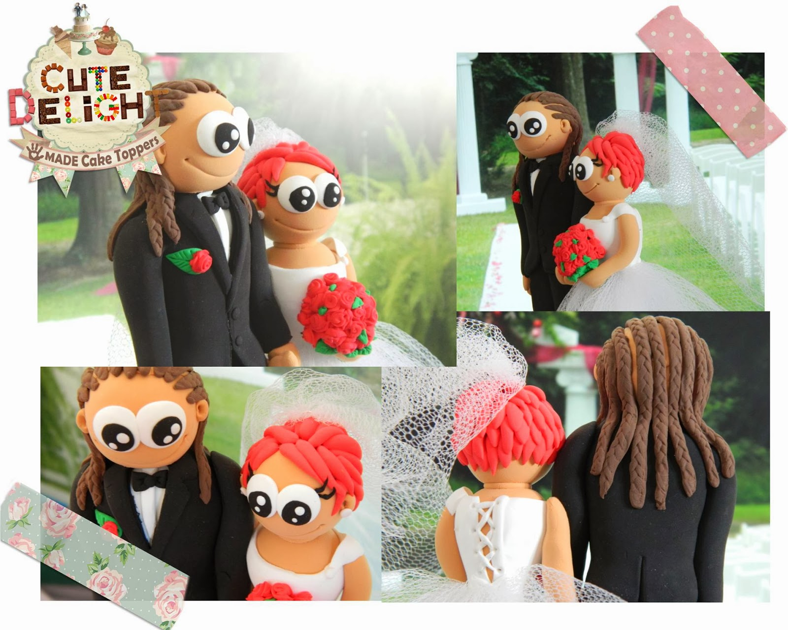 Cake Toppers With Dreadlocks