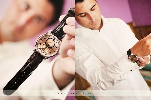 reloj de pulsera del novio