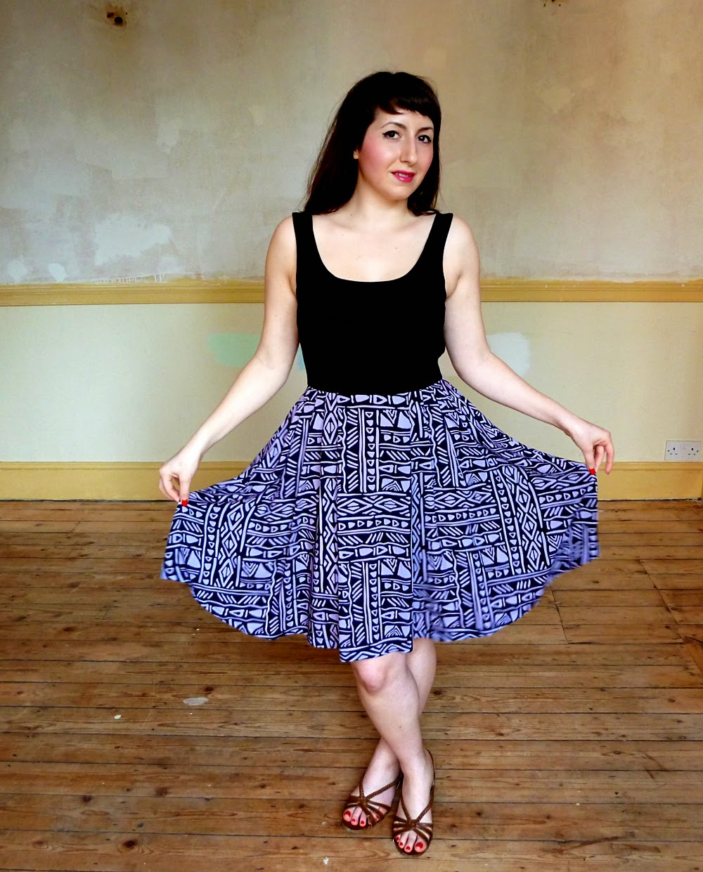 Tribal print Lilou Dress - A Stitching Odyssey