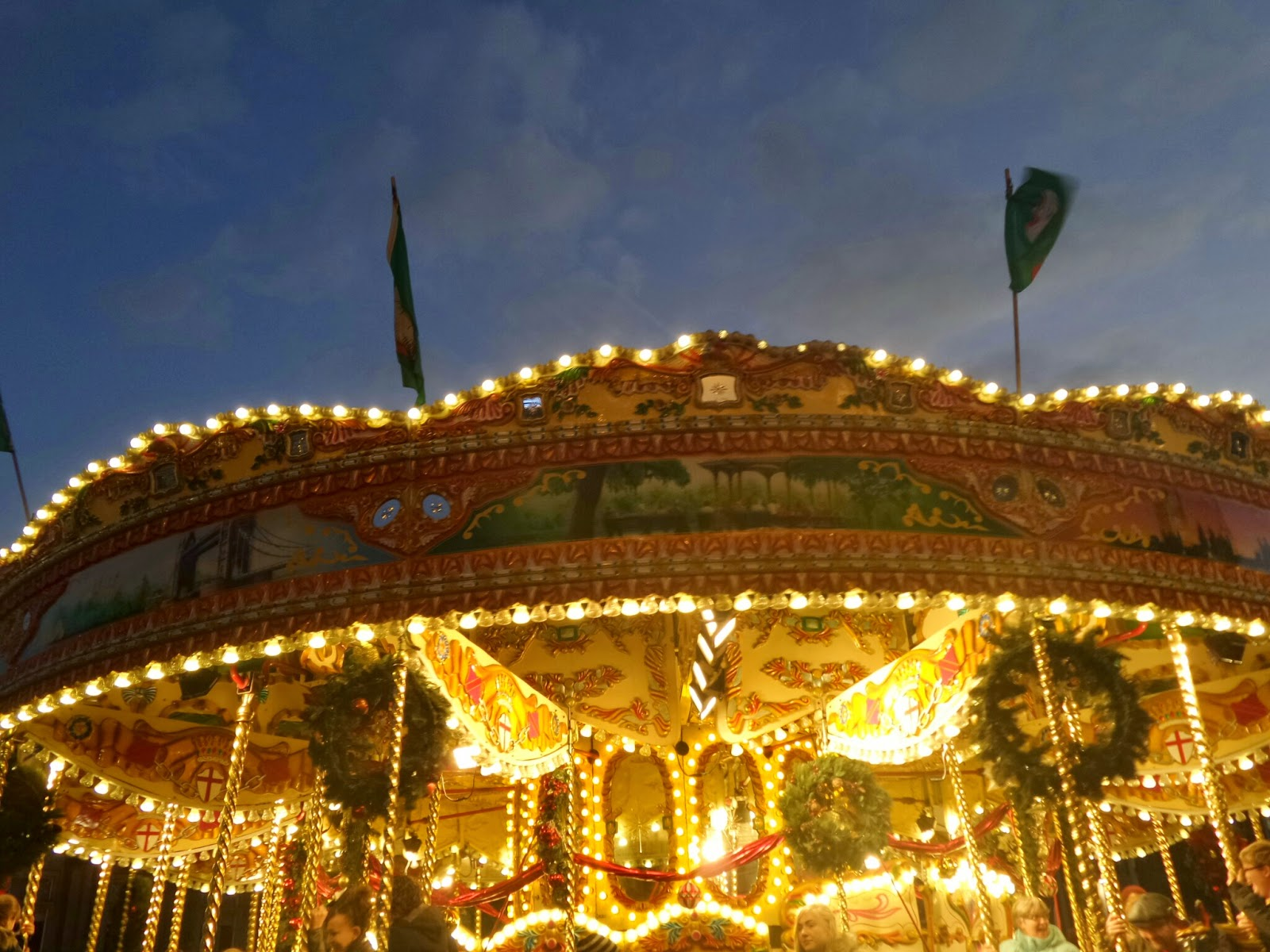 Carousel at the German Christmas Market in Birmingham City Centre
