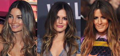 celebrities with ombre hair
