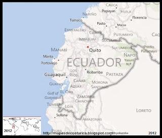 Mapa de ECUADOR, BING