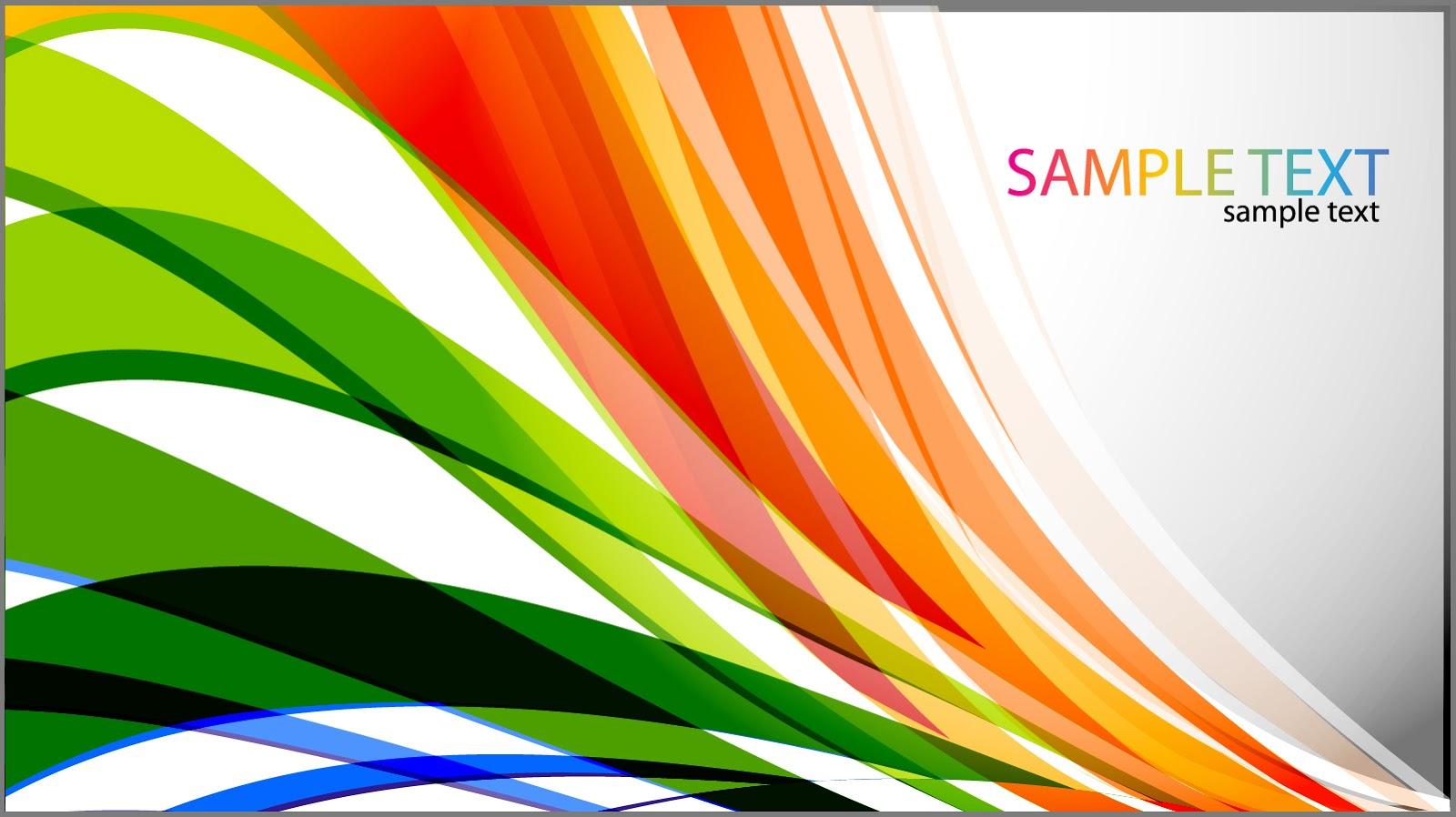 カラフルな曲線が重なる背景 Abstract Colored Curves Vector Background イラスト素材