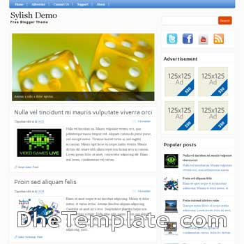Stylish (II) blogger template. blogspot template magazine style