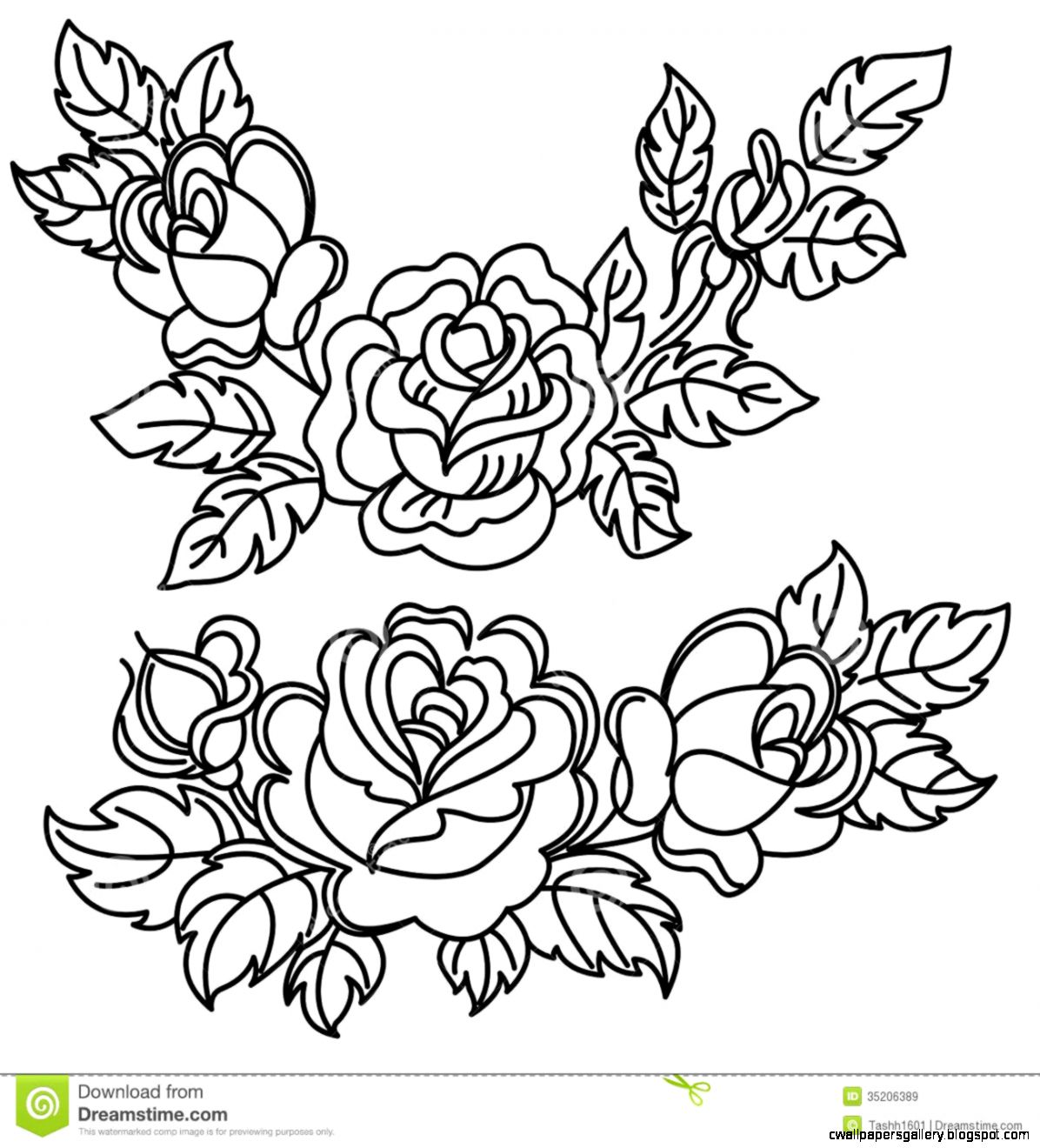Flower Drawings In Black And White Rose  Bouquet Idea