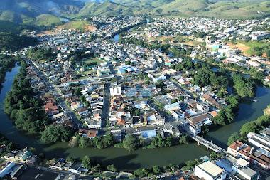 Vista aérea de Bom Jesus do Norte, extremo sul do Estado do Espírito Santo