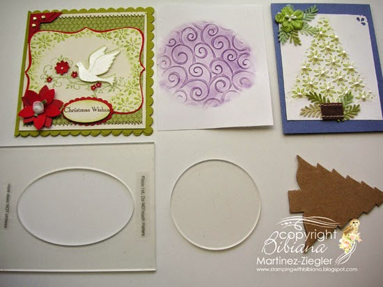 DIY embossing diffuser samples and cards