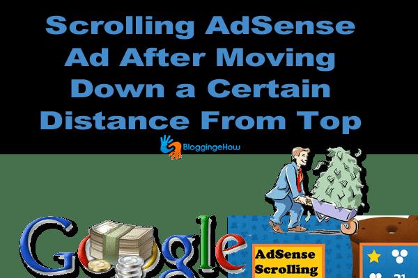 Scrolling AdSense blogger widget