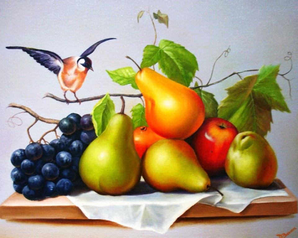 Cuadros modernos pinturas y dibujos pintura naturaleza - Fotos de bodegones de frutas ...