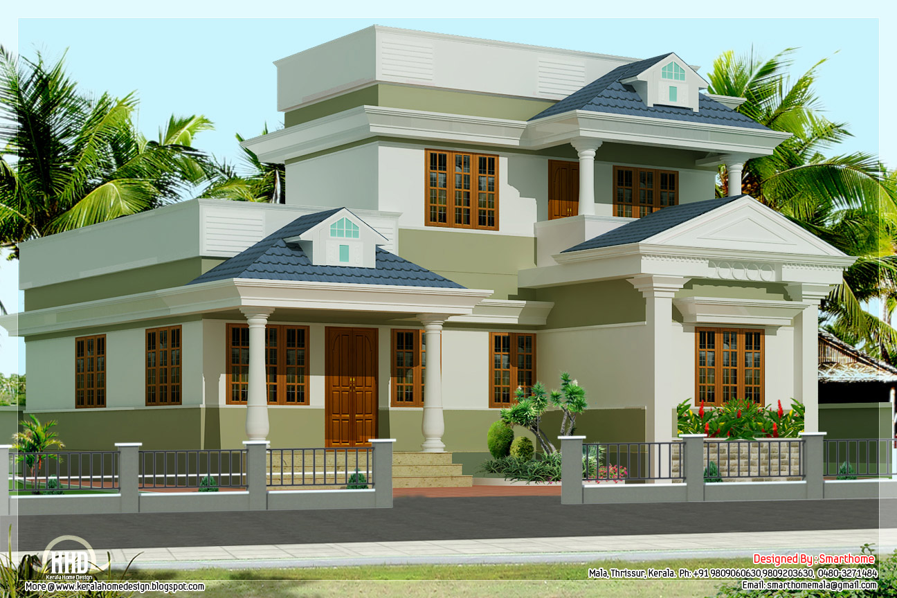 3 bedroom kerala villa elevation kerala home design for Kerala style villa plans