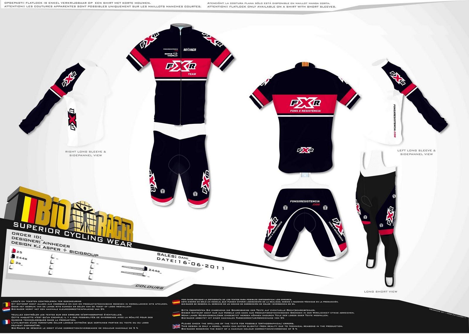 Fons x resist ncia nuevos dise os de ropa fxr de ciclismo for Diseno de ropa