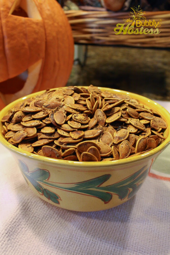 toasted pumpkin seeds pumpkin seeds washed drained and dried melted ...