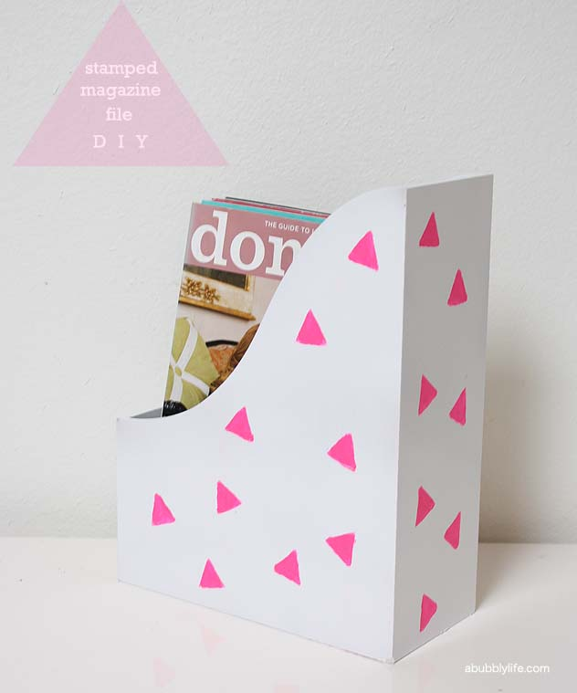 Magazine File Stamped Diy
