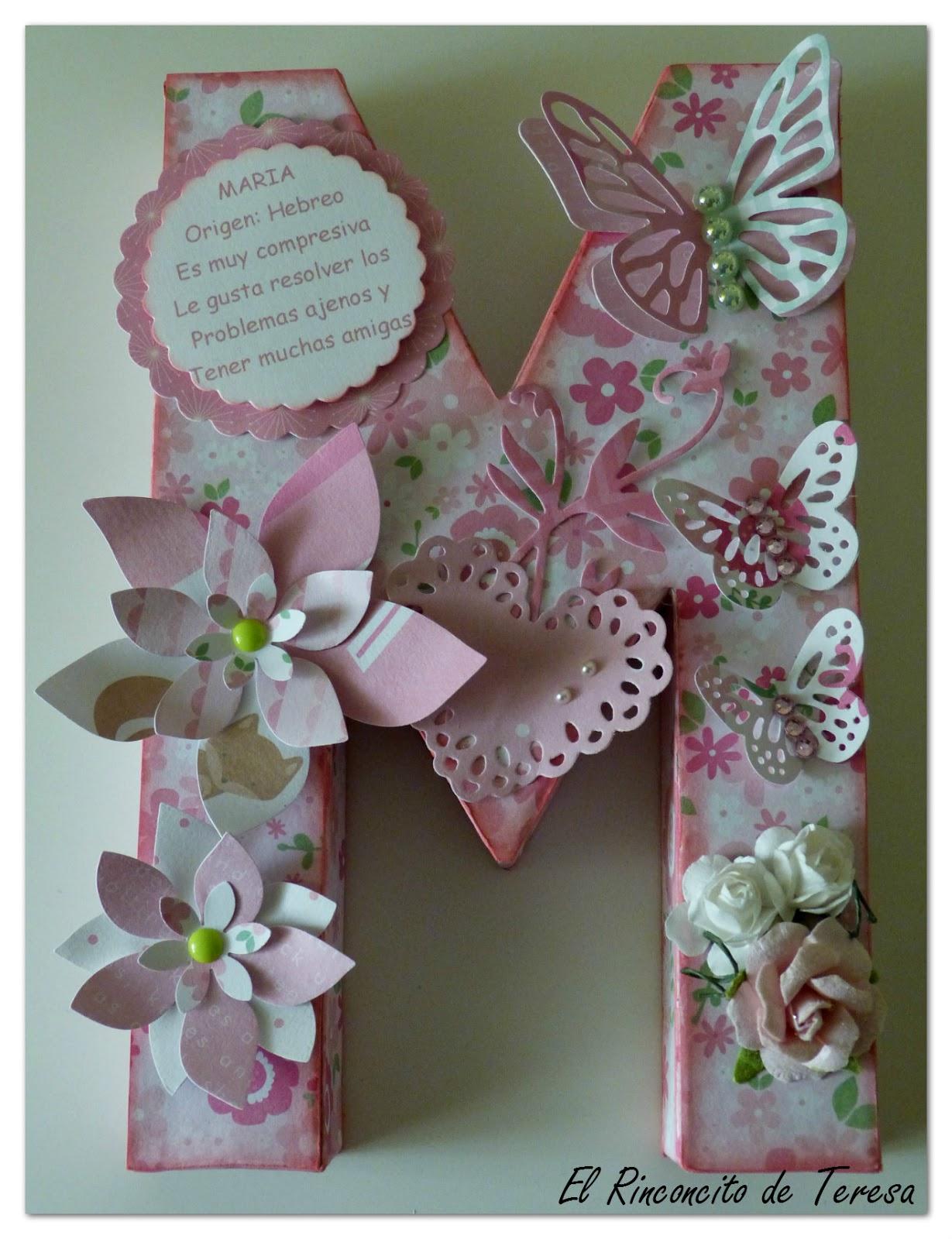 El rinconcito de teresa letras decoradas s y m - Letras decoradas infantiles ...