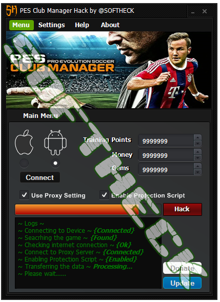 PES Club Manager Hack Tool