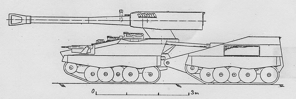 UDES XX20 Tank Destroyer Scaled Drawing