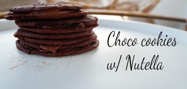 SOFIKA BAKES  : CHOCO COOKIES W/ NUTELLA