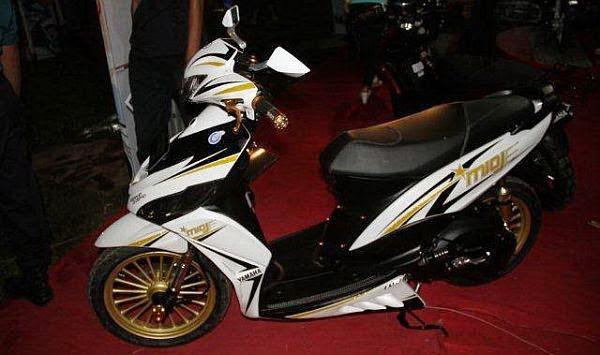 Modifikasi sepeda motor matic mio j