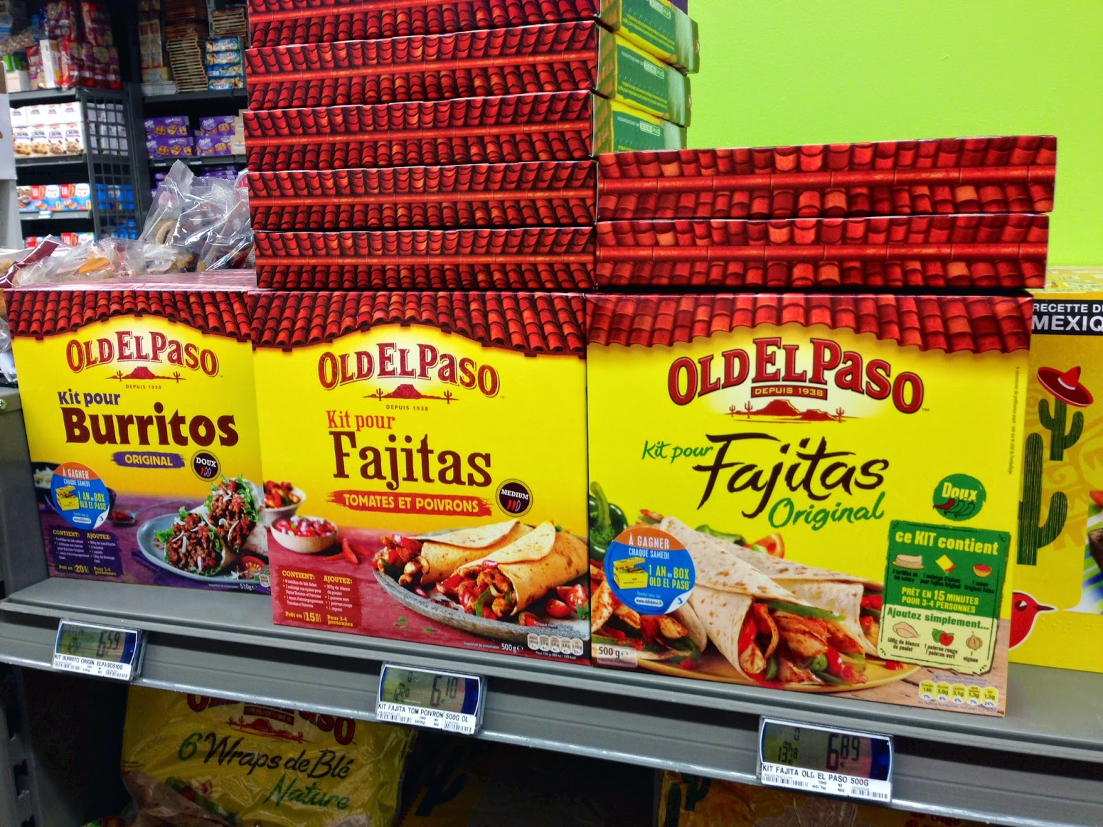 Tex-Mex in France, Tex-Mex in Paris, Tex-Mex, Old el Paso