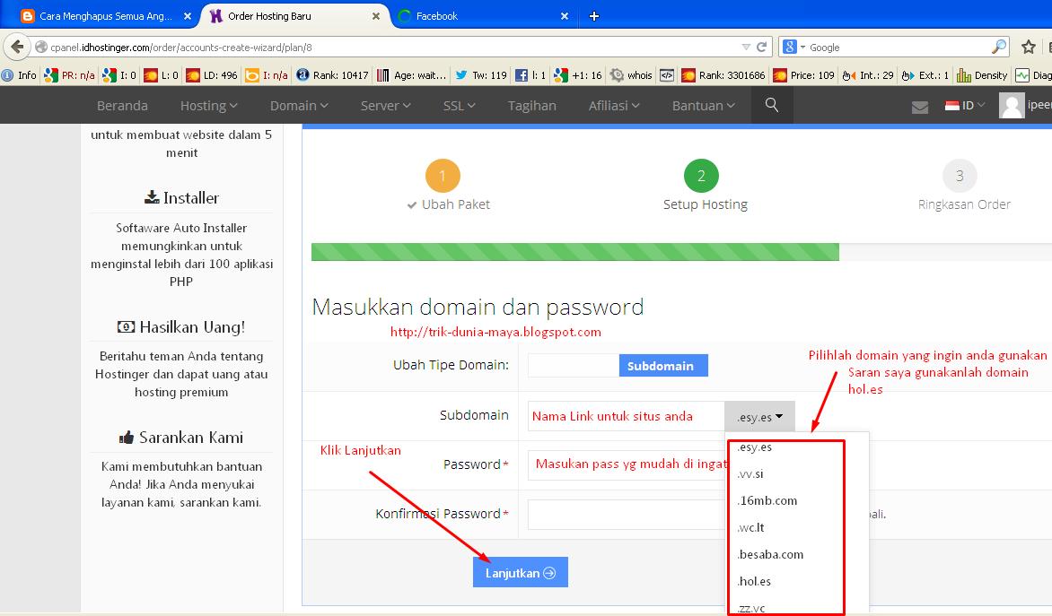 Cara Memilih Domain di Idhostinger.com