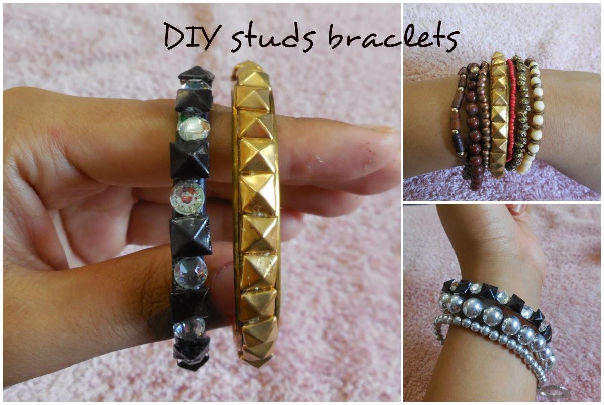 DIY Studded braclet