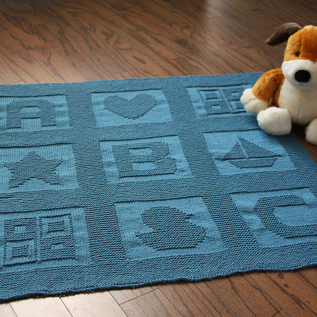 Knitting Pattern Alphabet Blanket : The Knitting Needle and the Damage Done: Baby Blanket ...