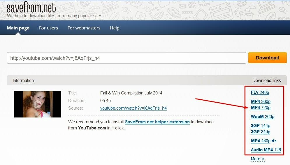 Download Video Youtube Dengan menambahkan ss didepan url youtube