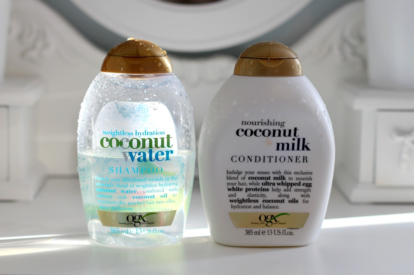 Little Miss Lifestyle Uk Beauty And Blog Review Ogx Mac Fix Coconut 30ml Water Shampoo Milk Conditioner