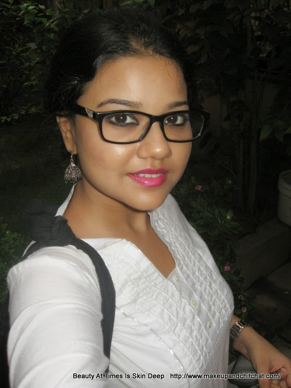 LOTD with L'Oreal Rouge Caresse Lipstick Impulsive Fuchsia| Nivedita |Beauty Blogger Kolkata