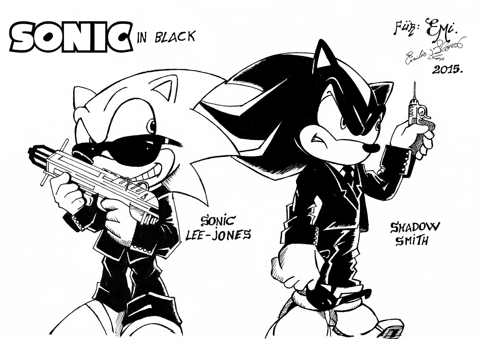 El Rincón de Ejaimbe: Mis dibujos de Sonic.
