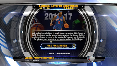 NBA 2K14 LeBron James Path To Greatness Knicks