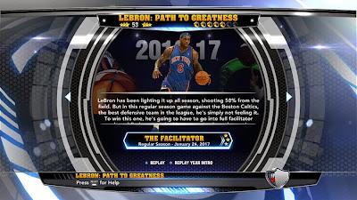 NBA 2K14 LeBron James Path To Greatness Knicks