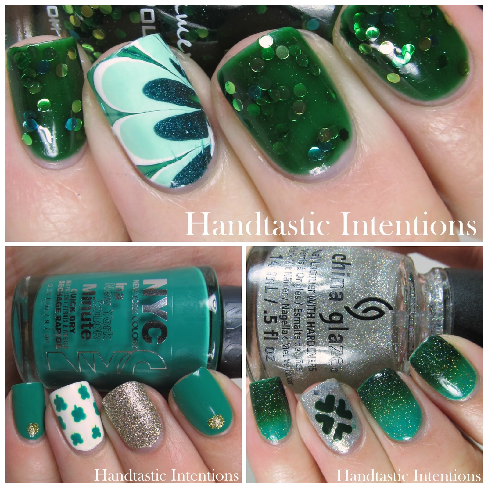 Handtastic Intentions: Three Nail Art Designs for St. Patrick\'s Day