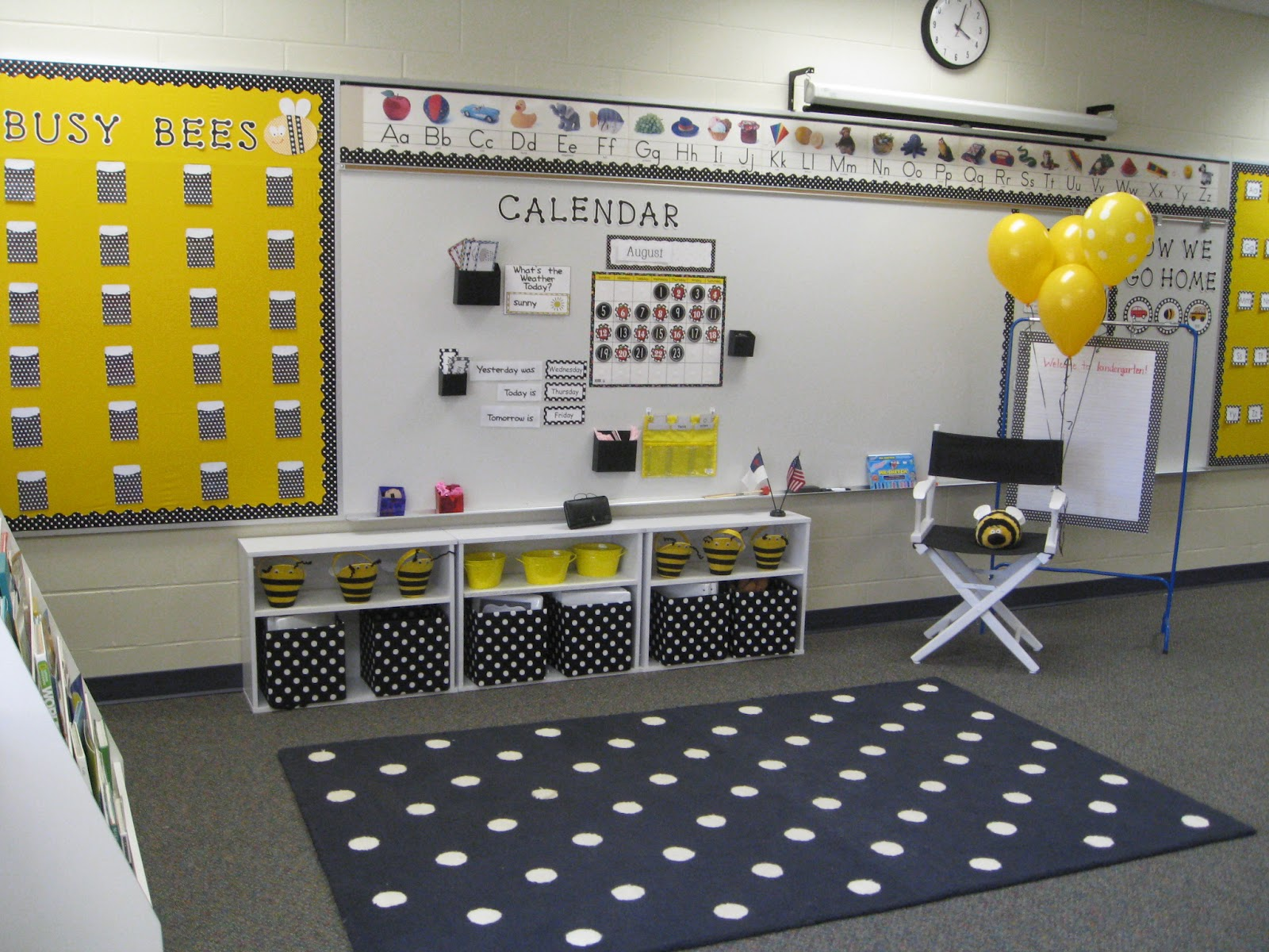 Classroom Ideas With Bees ~ School day love polka dots and bees