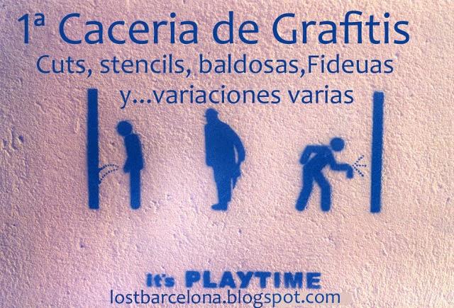 1ª CACERIA DE GRAFITIS 2012